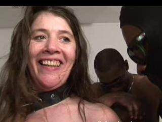 Two french matures interracial gangbang